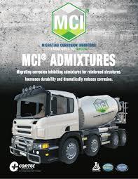 Cortec MCI Admixtures brochure